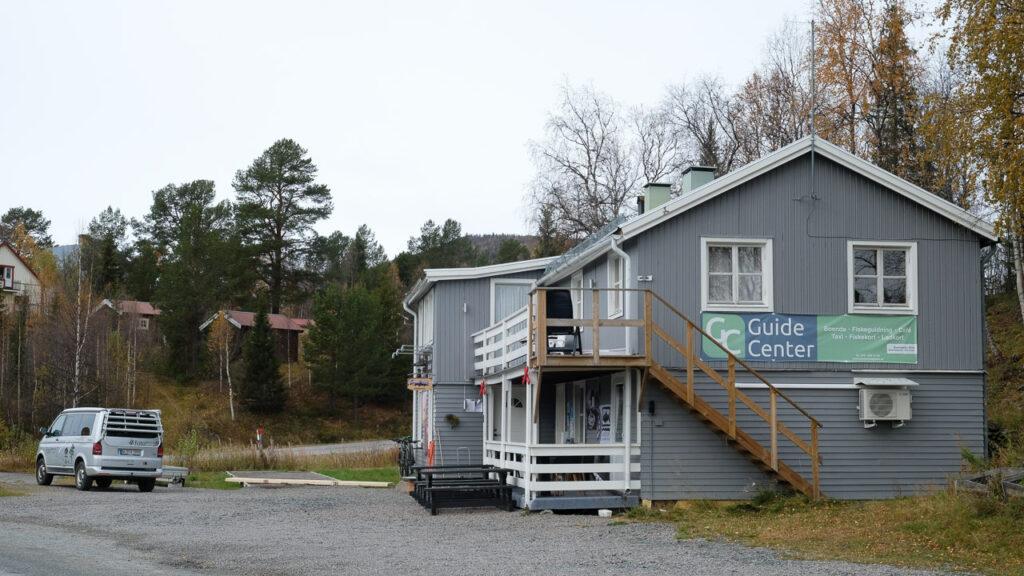 Informationpunkt für Aktivitäten in Ammarnäs, Schwedisch Lappland