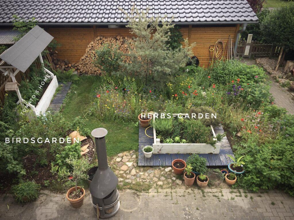 Kräuterhochbeet im eigenen Garten garantiert Essen mit Genuss