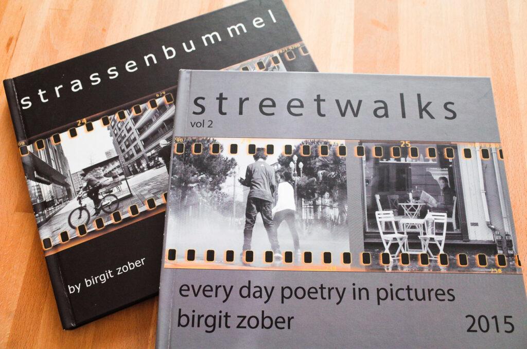 meine beiden Bücher zum Thema Streetfotografie, viel betrachtenswerter als digitale Aufbewahrung