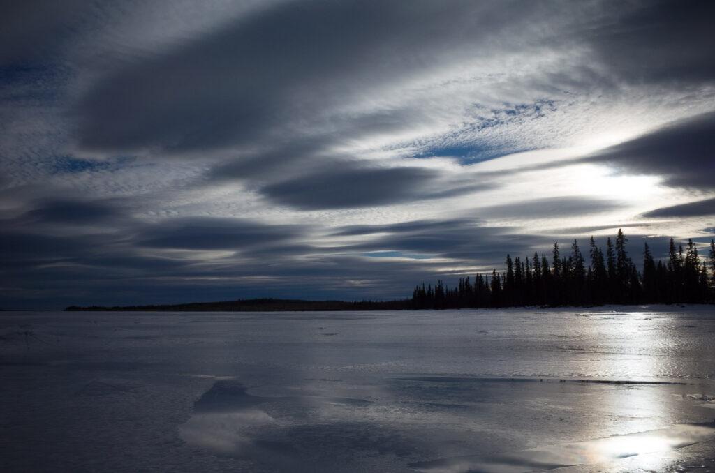 Eis, Schnee und Himmel sind weitblick