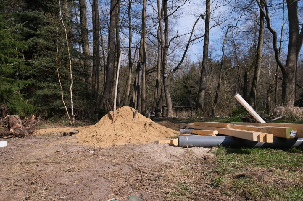 Da ist der Sand schon hinten angekommen...