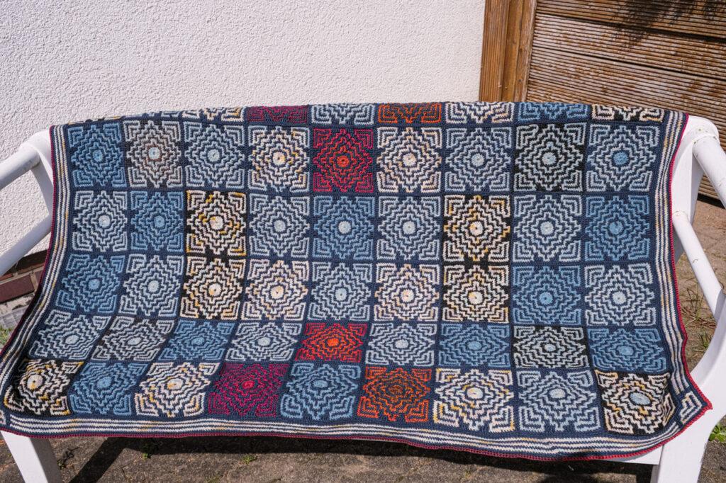 Wolldecke Mosaik-Technik, Design Tinna Thurodottir