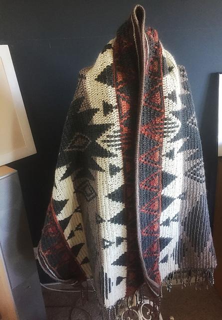 Montana Wrap, Alpaca wool design Tinna Thorudottir