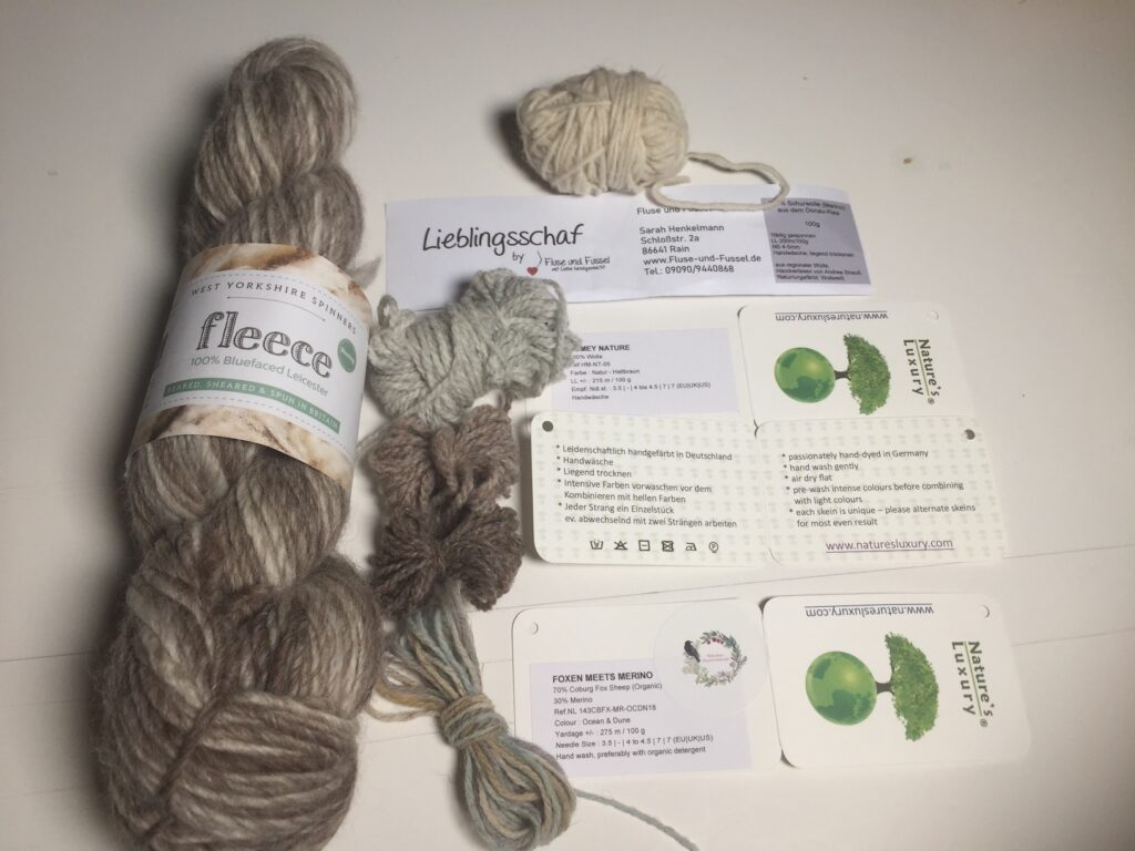 pure new wool, yarn from old sheep breads